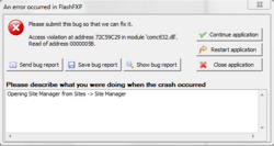 Win 7 x64 - Site Manager crashing app in all versions after release 1658-fxp_err-png