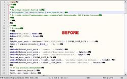 creates double-spaces in a file when I download from server using FlashFXP.-before-jpg