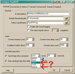Send Keep Alive command - LIST and refresh - two options with the same result-flashfxp-list-refresh-png
