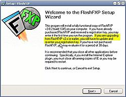 Update drops it back into the evaluation version-fxp-install-jpg