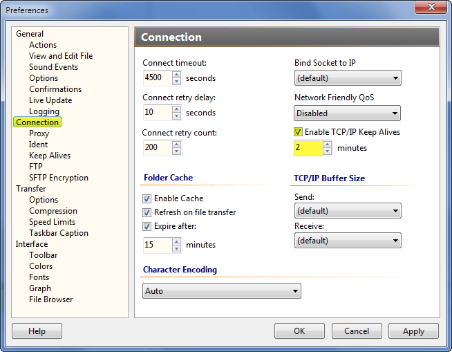 solution] Transfer times out or the connection drops during